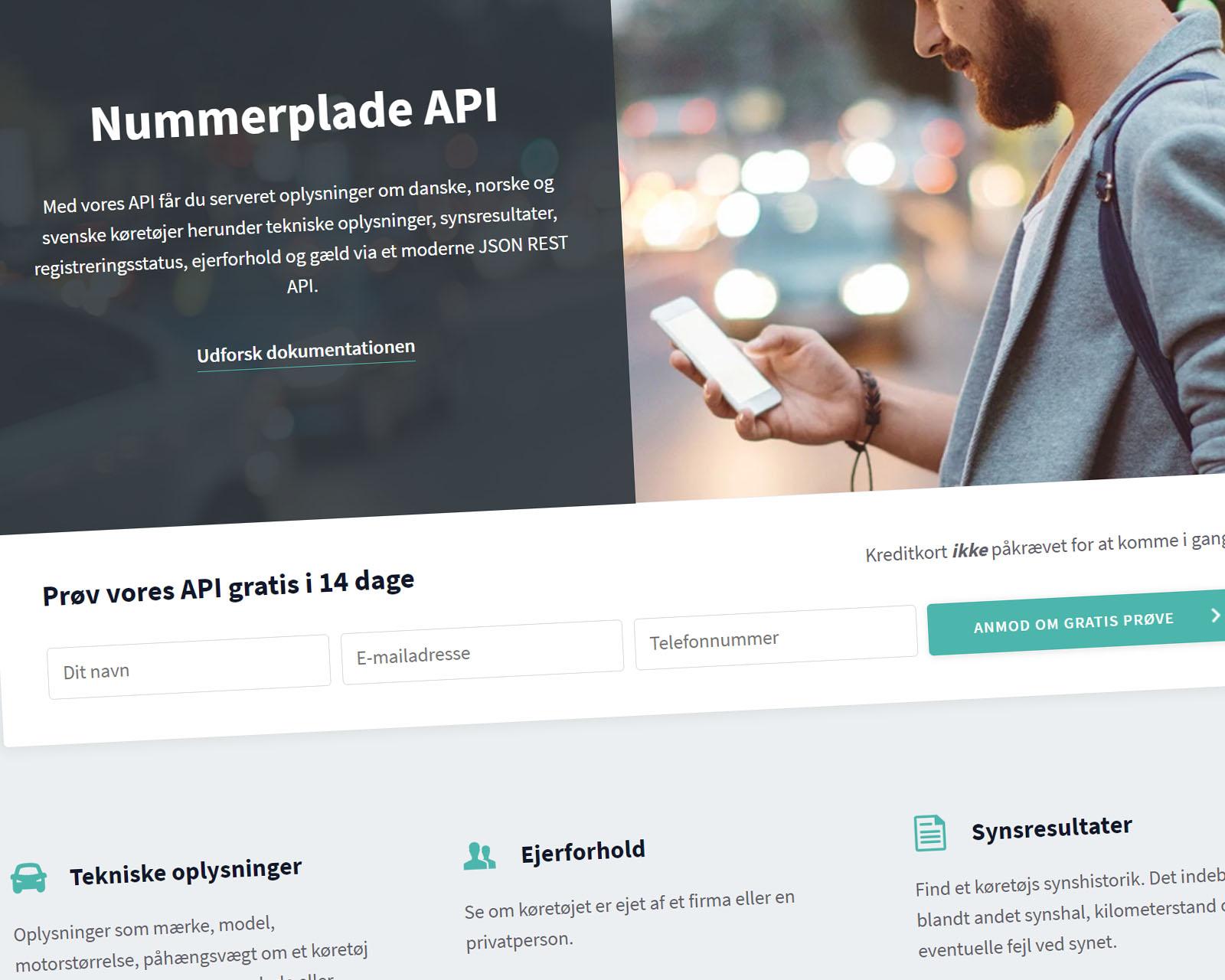 Nummerplade API